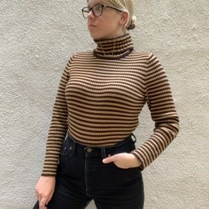 Vintage Striped Turtleneck